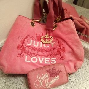 Juicy couture purse and matching wallet